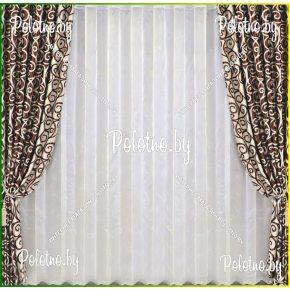 Комплект готовых штор в спальню и гостиную Эллада — 2.6