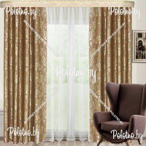Комплект готовых штор в спальню и гостиную Афина — 2.6 блэкаут