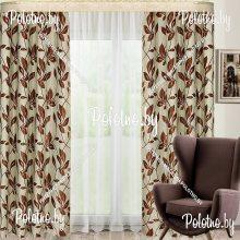 Комплект штор Афина — 2.6 ветка цвета венге