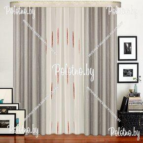 Комплект готовых штор в спальню и гостиную Анастасия — 2.6 серый