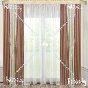 Комплект готовых штор в спальню и гостиную Дуэт — 2.6