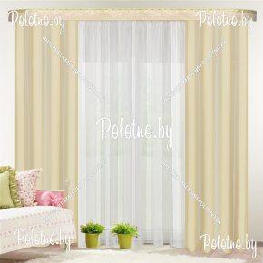 Комплект готовых штор в спальню и гостиную Гранд — 2.6 сливочный