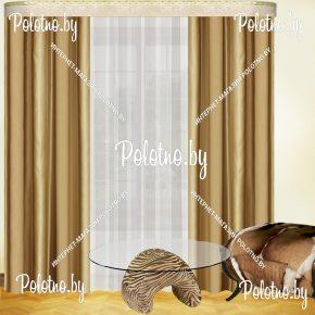 Комплект готовых штор в спальню и гостиную Гранд — 2.6 золото