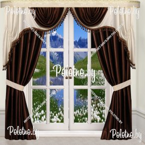 Комплект готовых штор в спальню и гостиную Изольда — 2.5