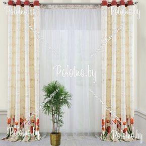 Комплект готовых штор в спальню и гостиную Марта — 2.6