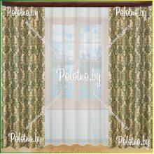 Ночные шторы Дилара  — 2.7 зеленый
