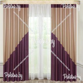 Комплект готовых штор в спальню и гостиную Элвис — 2.7