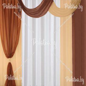 Комплект готовых штор в спальню и гостиную Скарлет — 2.8