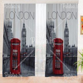 Фотошторы с рисунком Лондона