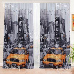 Фотошторы с рисунком города Нью Йорк
