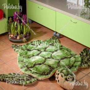 Меховой декоративный ковер черепаха