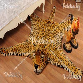 Меховой декоративный ковер леопард