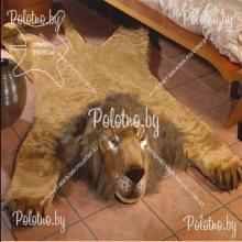 Коврик декоративный меховой Лев