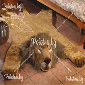 Меховой декоративный ковер лев