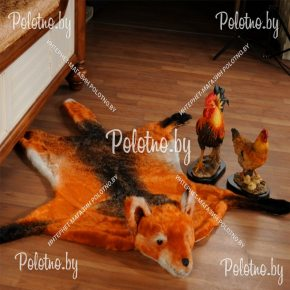 Меховой декоративный ковер ввиде шкуры лисы