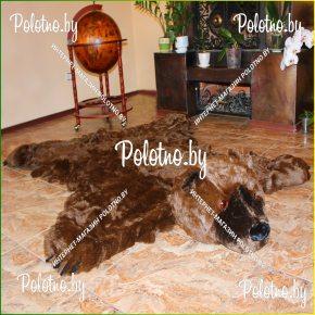 Меховой декоративный ковер медведь гризли