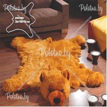 Коврик декоративный меховой Медведь бурый