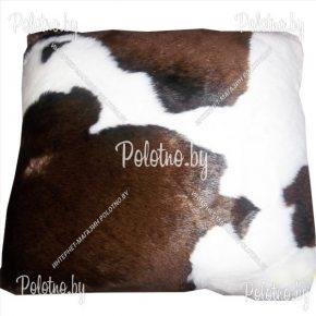 Декоративная диванная подушка из меха