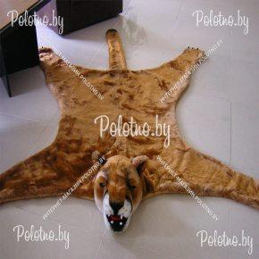 Меховой декоративный ковер пума