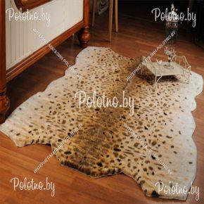 Меховой декоративный ковер рысь
