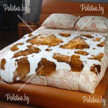 Коврик декоративный меховой Теленок светло-коричневый 220х150