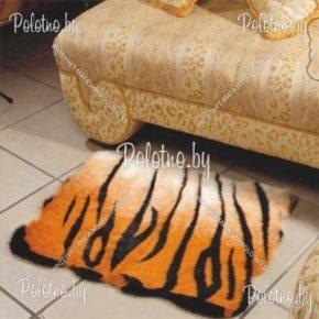 Меховой декоративный ковер Тигр размером 90х70