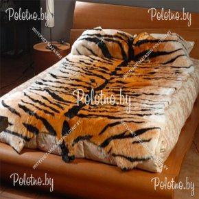 Меховой декоративный ковер тигр размером 220х150