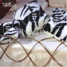 Подушка декоративная меховая Зебра