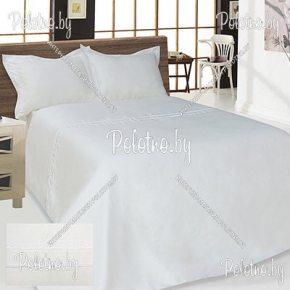 Купите комплект «Свадьба» лен евро размера белый — льняное постельное белье
