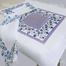 Комплект столовый Василек лен
