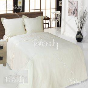 Купите комплект «Винтаж» лен евро размера белый — льняное постельное белье с вышивкой