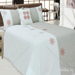 Комплект постельного белья евро размер Полина из льна