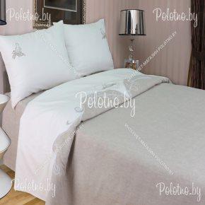 Купите комплект «Голуби» лен евро размера свадебный — льняное постельное белье с вышивкой