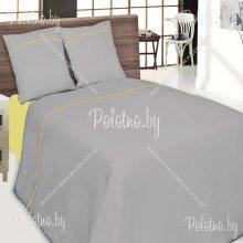 Комплект двуспальный Мозайка лен серый