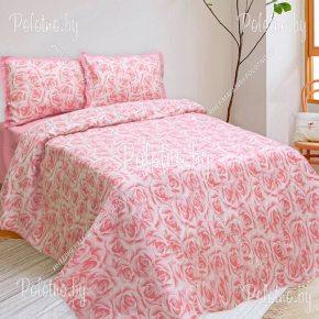 Купите комплект «Розы»  евро размера — льняное постельное белье