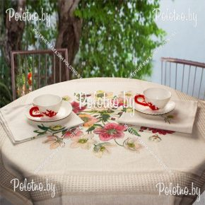 Льняной столовый комплект Анемоны
