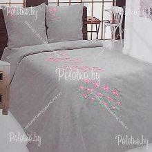 Комплект двуспальный Дикая природа лен с вышивкой