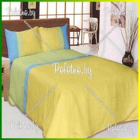 Купите комплект «Эдит» лен евро размера желтый — льняное постельное белье