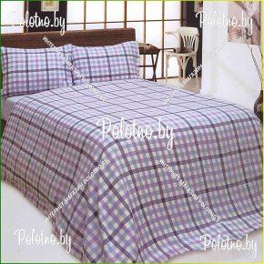Комплект постельного белья двуспальный размер Геометрия из льна с вышивкой