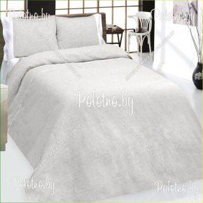 Купите комплект «Грей » лен евро размера— льняное постельное белье с вышивкой