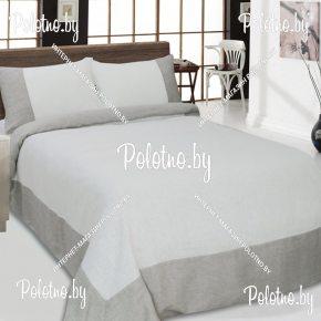 Купите комплект «Иллюзия» лен евро размера — льняное постельное белье