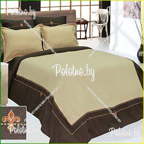 Купите комплект «Анжелика» лен евро размера — льняное постельное белье с вышивкой