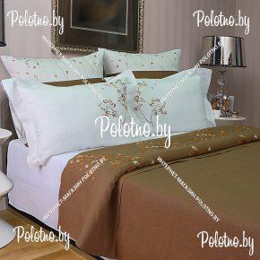 Купите комплект «Каролина» лен евро размера — льняное постельное белье с вышивкой