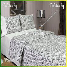 Комплект двуспальный Лепесток серо-белый