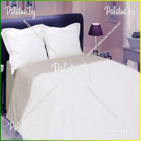 Купите комплект «Нонна» лен евро размера — льняное постельное белье