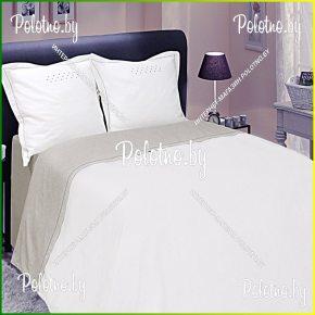Купите комплект «Нонна» лен двуспальный терракот— льняное постельное белье