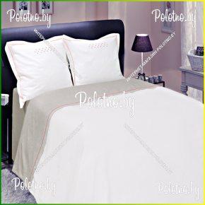 Купите комплект «Нонна» лен двуспальный терракот— льняное постельное белье 15с153