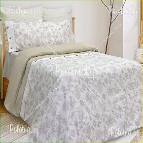 Купите комплект «Пралеска» лен евро размера  — льняное постельное белье