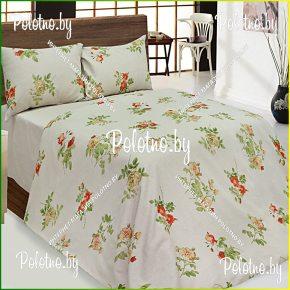 Купите комплект «Прованс» лен двуспальный оранжевый — льняное постельное белье