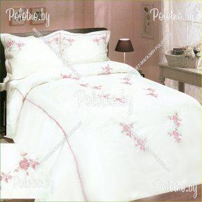 Льняной комплект «Марракеш» лен евро размера — постельное белье с вышивкой